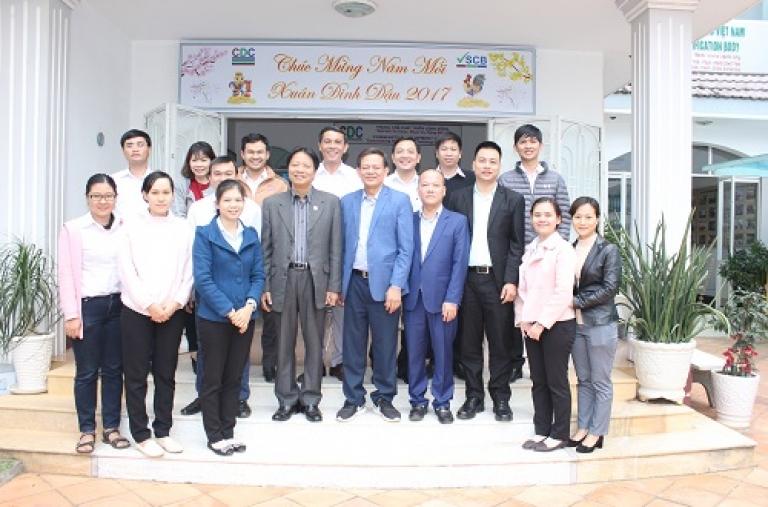 Ban Quản lý Dự án VnSAT đến thăm và làm việc tại Trung Tâm Phát Triển Cộng Đồng