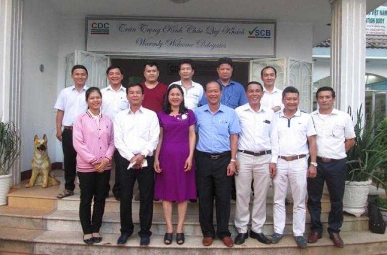 Hiệp hội Cà phê Sơn La thăm và làm việc tại CDC