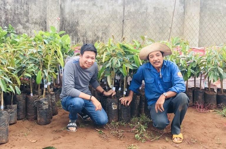 CDC hỗ trợ cây giống cho các mô hình canh tác cà phê tích ứng với biến đổi khí hậu