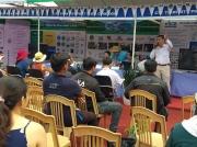 Ông Bạch Thanh Tuấn - Giám đốc CDC phát biểu tại Bàn Thông Tin Di Động - Festival Cà phê 2019